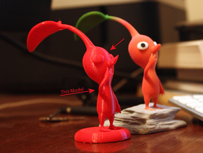 Red Pikmin standing in Red Processed Versatile Plastic