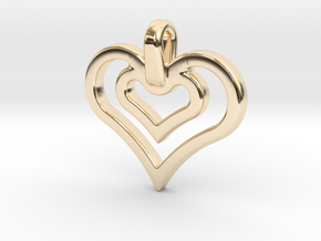 heart jewel in 14k Gold Plated Brass
