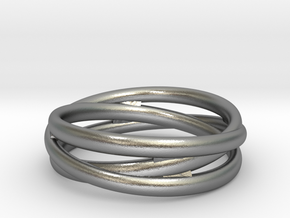 Triple alliance ring in Natural Silver: 6.25 / 52.125