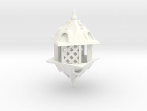 Gazebo d8 in White Processed Versatile Plastic
