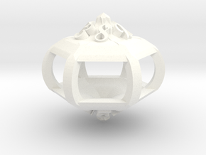Gazebo d12 in White Strong & Flexible Polished