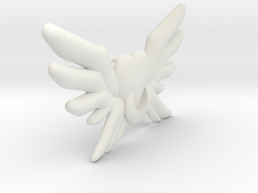 Winged Brooch for 60 cm doll in White Strong & Flexible