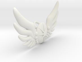 Star Wing Brooch for 60 cm doll in White Natural Versatile Plastic