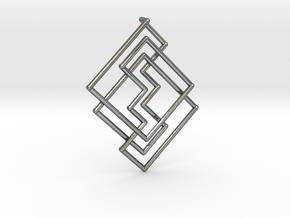 Cobweb Pendant in Polished Silver: Large