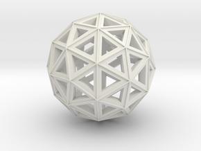 Icosphere7 (repaired) (repaired) in White Natural Versatile Plastic