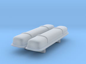 1/25 Oldsmobile 371 Valve Covers (Blank) x2 in Smooth Fine Detail Plastic