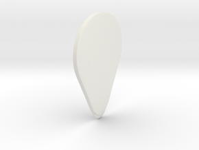 Your Personalized Guitar Flatpick in White Natural Versatile Plastic