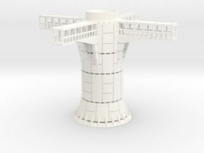 1/270 Imperial Landing Pad (Small) Support in White Processed Versatile Plastic