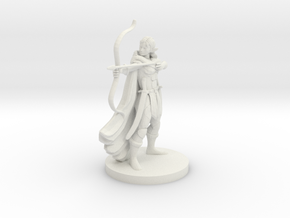 Elf Female  Ranger in White Natural Versatile Plastic