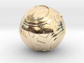 Zenyatta's Ball (Color/Different Sizes available) in 14K Yellow Gold: Extra Small
