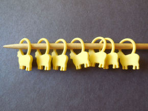 Baa-a-a Knitting Stitch Markers in Yellow Strong & Flexible Polished