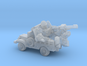 """""""Sarge"""" and """"Eggsy"""", Vehicle Mode Miniature in Smooth Fine Detail Plastic"""