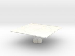 1/270 Imperial Landing Pad (Small) in White Processed Versatile Plastic