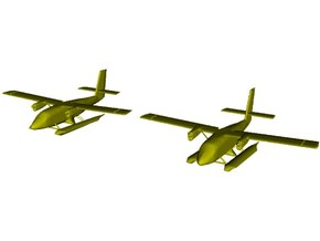 1/200 scale DHC-6 Twin Otter seaplanes x 2 in Smooth Fine Detail Plastic
