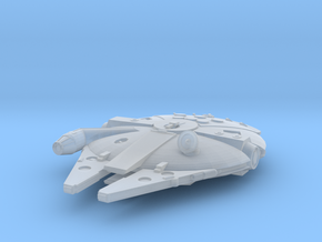 1:2700 Millenium Falcon in flight in Smoothest Fine Detail Plastic