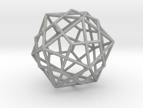 Icosahedron Dodecahedron Combination in Aluminum