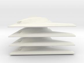 1/350 Phantom Ray (x4) in White Natural Versatile Plastic