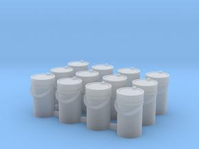 1/87 One Dozen 5 Gallon Pails in Smooth Fine Detail Plastic