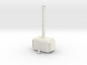 Mjolnir, Beacon of Thunder in White Natural Versatile Plastic: Small