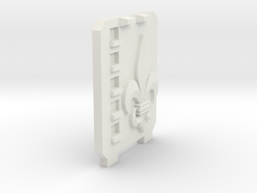 Supressor Left side hatch ( fleur de lis )  in White Natural Versatile Plastic