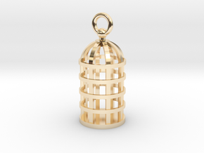 Cage Pendant in 14k Gold Plated Brass