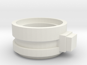 Supressor Turret ring extender weapon mount in White Natural Versatile Plastic