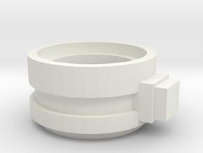 Supressor Turret ring extender weapon mount in White Natural Versatile Plastic