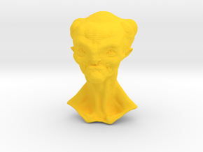 Granny Alien Bust  in Yellow Strong & Flexible Polished