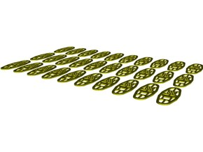 1/35 scale Norwegian Army military snowshoes x 30 in Smooth Fine Detail Plastic