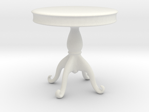 Printle Thing Baroque Table 1/24 in White Natural Versatile Plastic