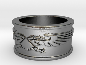 Crest Ring Size 7 in Polished Silver