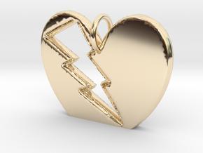 Lightening in your Heart pendant in 14K Yellow Gold