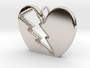 Lightening in your Heart pendant in Platinum