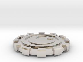 Canto Bight Casino Chip in Rhodium Plated Brass