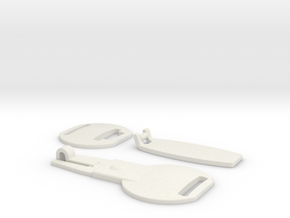 Brown Coat Clasp (Plastic) in White Natural Versatile Plastic