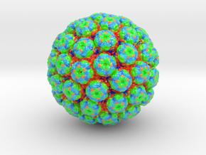 Polyomavirus Colored (3 sizes) in Glossy Full Color Sandstone: Small