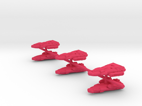 "Bajoran transport x6 on sprue .75"" in Pink Processed Versatile Plastic"