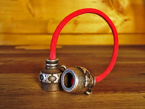 Hooch Jug Begleri (Beads Only) / Skill Toy in Polished Bronze Steel