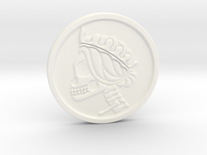 Liberty Skull Worry Skill/Challenge coin in White Processed Versatile Plastic