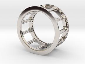Greek Ring in Rhodium Plated Brass: 4.5 / 47.75