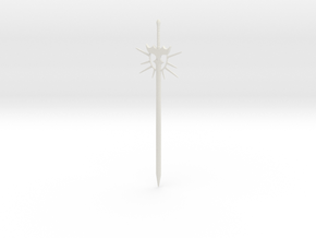 Sun longsword in White Natural Versatile Plastic