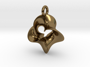 4-Twisted Möbius pendant in Polished Bronze