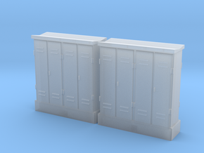 HO 2 Relay Cabinets 4-Door in Smooth Fine Detail Plastic