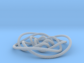 Rose knot 3/5 (Rope with detail) in Smooth Fine Detail Plastic: Small