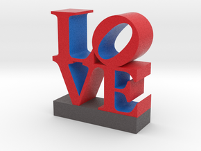 Love Sculpture - larger version 091517 in Full Color Sandstone