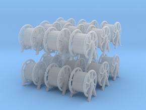 1/200 DKM Rope Barrel Big Set x18 in Smooth Fine Detail Plastic