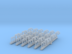 1/200 DKM Vent Tubes Set x72 in Smooth Fine Detail Plastic