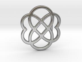 Custom Logo Belt Buckle in Natural Silver