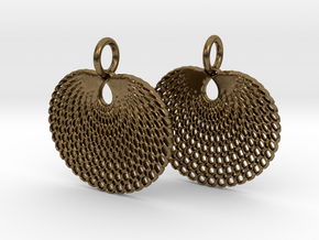 Peacock earrings in Natural Bronze