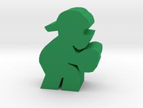 Game Piece, Baseball Catcher in Green Processed Versatile Plastic